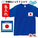 ショッピング日本代表 おもしろ Tシャツ 名入れ 大迫 ハンパない 3L 4L 【○○HANPANAITTE ワンポイント】