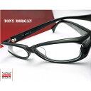 ショッピングフレーム 【送料無料】メガネ 度付き/度なし/伊達メガネ/pc用レンズ対応/【メガネ通販】TONY MORGAN Handmade Black セルフレーム 眼鏡一式 《送料無料》【smtb-m】