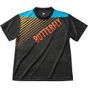 バタフライ(Butterfly) 男女兼用Tシャツ グラデイト・Tシャツ 45090 ブラック O[代引不可]