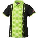 ニッタク(Nittaku) 女子用卓球ユニフォーム ダイヤシャツ NW2169 ライトグリーン O[代引不可]