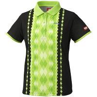 ニッタク(Nittaku) 女子用卓球ユニフォーム ダイヤシャツ NW2169 ライトグリーン O[代引不可]の画像