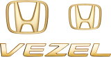 HONDA ホンダ VEZEL ヴェゼル ホンダ純正 ゴールドエンブレム ●Hマーク×2、車名エンブレム 【対応年式2013.12〜次モデル】【desir de vivre】
