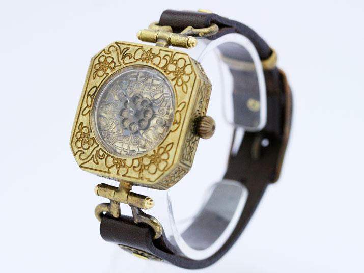 【送料無料】Ks 霞(かすみ)手作り腕時計