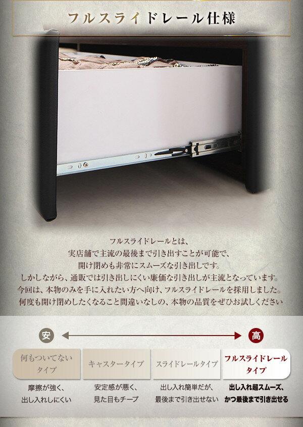 収納ベッドクイーン【羊毛入り ...