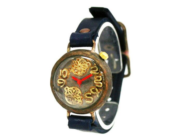 【送料無料】en 鞠遊び 手作り腕時計 ぬくもりと物語のある手作り時計。贈り物にも最適です。