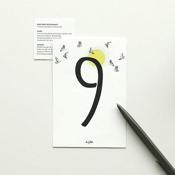 【在庫限り品SALE】ポストカード Number card/デイリーライク Dailylike【メール便対応】 絵葉書 ハガキ かわいい おしゃれ 北欧風 メッセージカード プレゼント ギフト 誕生日 バースデー ウェディング 手紙 数字カード