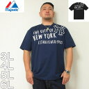 ショッピング野球 (本州四国九州送料無料)大きいサイズ メンズ Majestic-半袖Tシャツ(メーカー取寄)3L 4L 5L 6L マジェスティック ヤンキース 野球 半袖 Tシャツ スポーツ