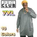 ショッピングスノーボードウェア PRO CLUB (プロクラブ) 【全11色】 [あす楽] 7XL サイズ!ヘビーウェイト PROCLUB 無地/プレーン ロングTシャツ (L/S TEE)小さいサイズ 大きいサイズ スノボー ウェア スノーボード インナー 作業着 3L 4L 5L 7L 10L