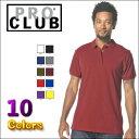 PRO CLUB (プロクラブ) 【全10色】[あす楽]PROCLUB PIQUE POLO SHIRT (ポロシャツ)大きいサイズメンズ メンズ無地ポロ 大きいポロシャツ プロクラブポロ