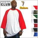 PRO CLUB (プロクラブ) 3/4 ラグラン ベースボールTシャツ ヒップホップ衣装 ダンス 衣装【全7色】【3〜5XL】[S〜2XLもございます]メンズ 7分袖 PROCLUB(ポロクラブ) 無地/プレーン 7分袖 ベースボールシャツ大きいサイズ インナー S M L LL 2L 3L 4L 5L