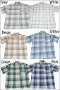 【あす楽】【2枚で送料無料】CalTop チェック柄 S/Sシャツ[カルトップ] 【全12色】メンズボタンシャツ 大きいメンズシャツ 大きいサイズシャツ【M〜3XL】4XL〜5XLもございます! LL 2L 3L 4L 5L