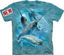 【THE MOUNTAIN】【動物 Tシャツ】(クジラ×北極洋) Narwals