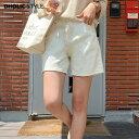ショッピングショート ウォッシングショートカラーパンツ・p163122 レディース 【pt】【韓国 ファッション パンツ ショートパンツ 短パン ズボン ボトムス 単色 無地 シンプル ベーシック カジュアル 大人 春 夏】【STYLE】