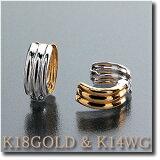 保留] [出售物品(无COD)耳环对等在小和可逆的对等Saizushi K18GOLD(金)和K14WG(白金)[耳が痛くないフィット感 イヤリング ピアリング K18GOLD(ゴールド) &K14WG(ホワイトゴールド)リバーシブルタイプ ピア