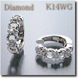 【ご予約販売商品】  (代金引換不可)イヤリング ピアリング ダイヤダイヤモンド 約0.06ct K14WG (ホワイトゴールド) 繊細なデザインが人気!【smtb-tk】【】