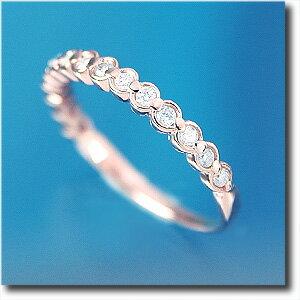 ハーフエタニティリング ダイヤモンド約0.20ct K18PG(ピンクゴールド) 女性らしい雰囲気のピンクゴールド使用k18/18金【送料無料】 10P03Dec16