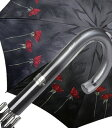 送料無料!イタリア高級傘雨の日に華やぐ♪上品な高級傘老舗傘メーカー【rainbow】ローズプリント長傘<ローザ>