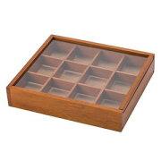 木製 アクセサリーケース L ブラウン 300 550-300