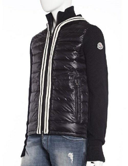 モンクレール【MONCLER】セーター/ダウンジャケット【メンズ】(9444900 97338)ブラック【送料無料】【QUOカードプレゼント】【アウトレット】