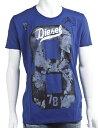 ディーゼル【DIESEL】Tシャツ/半袖/丸首【メンズ】(00S1MW 00TZK)ブルー【楽ギフ_包装】 【QUOカードプレゼント】【アウトレット】