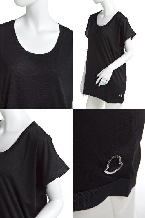 2014年春夏新作/モンクレール【MONCLER】Tシャツ/半袖/Uネック【レディース】(8091700 82853)ブラック【送料無料】【楽ギフ_包装】【QUOカードプレゼント】