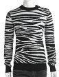 2014年秋冬新作/バルマン【BALMAIN】セーター/長袖/丸首【メンズ】(W4HM654B927Z)ホワイト×ブラック【送料無料】【楽ギフ_包装】【QUOカードプレゼント】