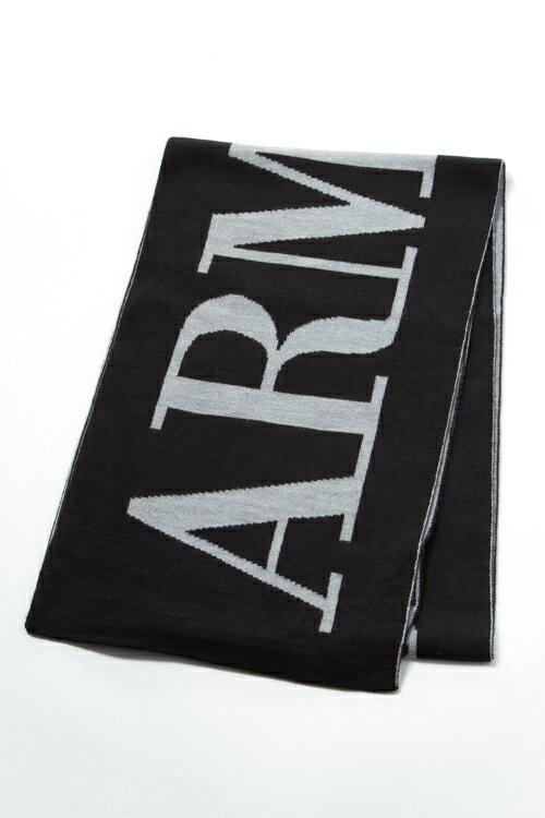 アルマーニ アルマーニジーンズ ARMANI JEANS アルマーニ ジーンズ マフラー 934026 6A715 ブラック 送料無料 楽ギフ_包装 3000円OFF クーポンプレゼント