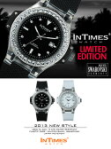 シチズン日本製ムーブ搭載 INTIMES インタイムス 限定生産モデル 48mm スワロフスキー シリコンバンド メンズ/レディース 男女兼用サイズ 腕時計
