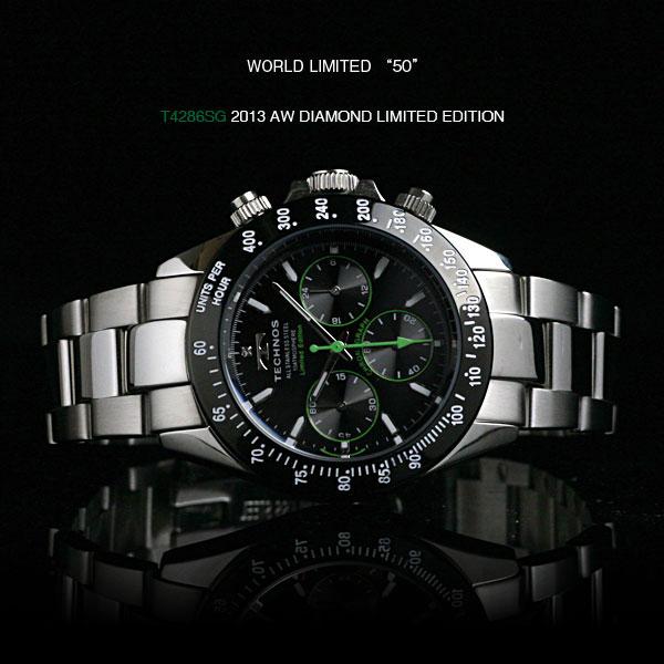 TECHNOS テクノス クロノグラフ メンズ 腕時計 T4286SG/T4286SB