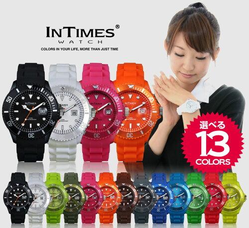 【12/下旬入荷分・予約販売】【祝!ランキング第2位】INTIMES(インタイムス)日本初上陸ブランド!迫力の44mmシリコンダイバーメンズサイズ腕時計選べる13色♪【BIG】
