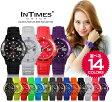 INTIMES インタイムス 40mm かわいい 防水 シリコンレディースアナログ アウトドア 腕時計 IT044