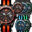 【2016 新コレクション】存在感のある44mmビッグフェイス SPEEDER シリコン ウォッチ シチズン製ムーブ搭載 インタイムス 防水 シリコン ラバー ダイバー メンズ レディース アナログ アウトドア カジュアル 腕時計