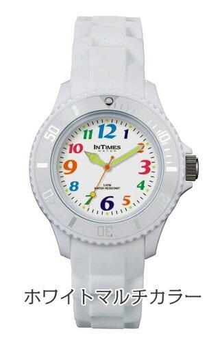 シチズン製ムーブ搭載インタイムス軽量防水かわいいパッケージ入り36mmシリコンレディース/キッズ/メンズサイズアナログ腕時計子供/ペア/家族アウトドア送料無料IT038