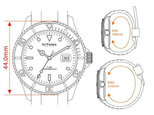 【お買い物マラソン】【祝!ランキング第2位】INTIMES(インタイムス)日本初上陸ブランド!迫力の44mmシリコンダイバーメンズサイズ腕時計選べる13色♪【BIG】