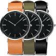 腕時計 北欧スタイル 腕時計 オシャレ 腕時計 デザイン 時計 シチズン日本製ムーブメント搭載!腕時計 Classic Round イタリアンレザー メンズ 腕時計 [ネコポス送料無料] ※付属品無し