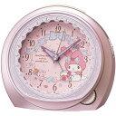 SEIKO セイコー 目覚まし時計 キャラクター マイメロディ アナログ ピンクメタリック CQ143P【お取り寄せ】