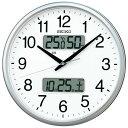 楽天あっとデジplusSEIKO セイコー 掛け時計 液晶表示付 オフィス 壁掛け 電波 KX235S カレンダー 温度計 湿度計 グリーン購入法適合 スイープ おしゃれ【お取り寄せ】