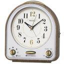 SEIKO セイコー 目覚まし時計 スタンダード 31曲メロディアラーム 茶木目模様 QM747B 【お取り寄せ】