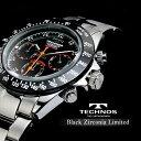 TECHNOS テクノス クロノグラフ ジルコニア リミテッド 特別限定モデル メンズ 腕時計 T4102TB