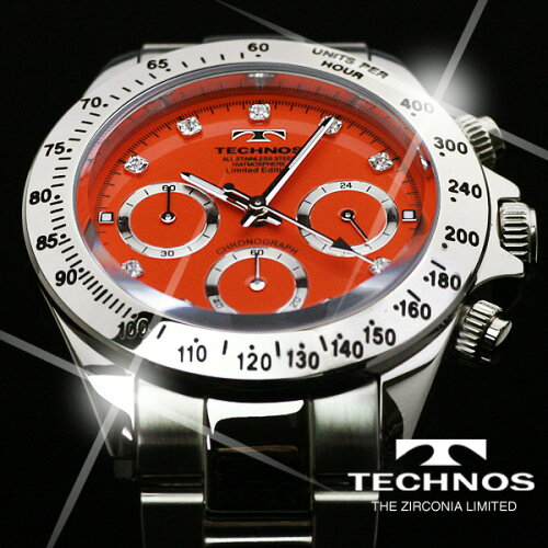 TECHNOSテクノスクロノグラフジルコニア・リミテッドメンズ腕時計T4102SO