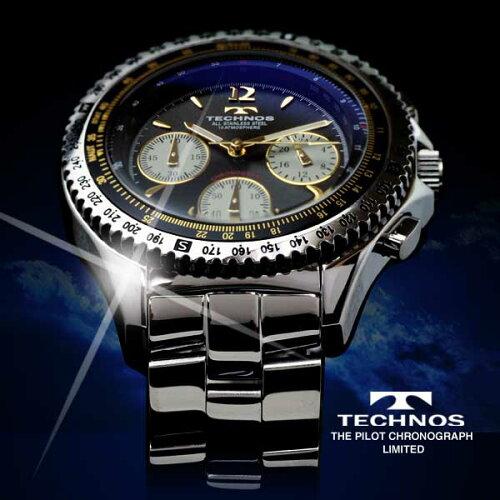 TECHNOSテクノスパイロット・クロノグラフ限定モデルメンズ腕時計T4162SH