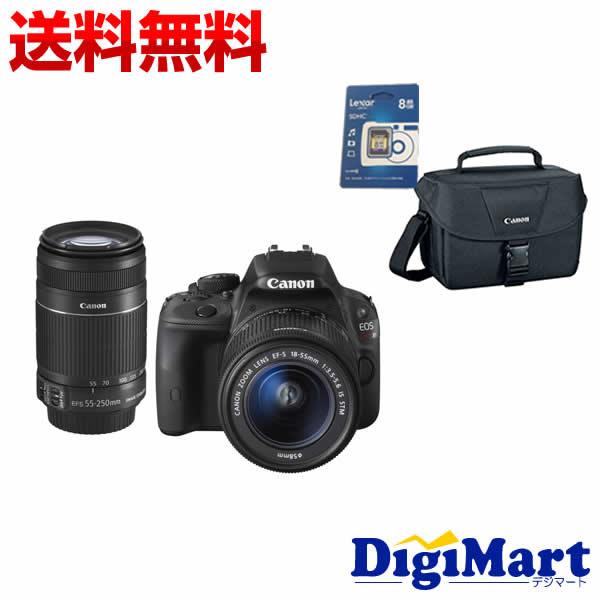 【送料無料】キャノン CANON EOS Kiss X7 ダブルズームキット & CANONバッグ& 8GB SDカードのセット デジタル一眼レフカメラ【新品・国内正規品】