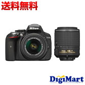 【送料無料】ニコン Nikon D5300 ダブルズームキット2 [ブラック] デジタル一眼レフカメラ【新品・国内正規品】