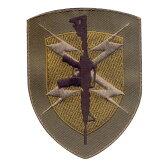Rothco ミリタリーワッペン 72200 ガンシールド ミリタリーパッチ アップリケ 記章 徽章 襟章 肩章 胸章 階級章