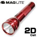 MAGLITE 懐中電灯 Dセル LEDライト [ レッド / 2D_(単一電池_2本) ] 単1電池 |MAGLITE MAG-LITE AAAセル ハンディライト アウトドア 懐中電気 明るいLEDライト 強力 防災