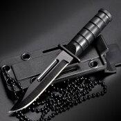 SGT GRIT ネックナイフ ブラック ステンレス ABS樹脂 渓流釣り 魚釣り フィッシングナイフ キャンプナイフ アウトドアナイフ ハンティングナイフ サバイバルナイフ シースナイフ