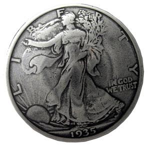 コインコンチョ 自由の女神 K レプリカ [ 通常ネジ ] | ハンドメイド 長財布 ロングウォレット 革製品 レザークラフト 材料 資材 パーツ