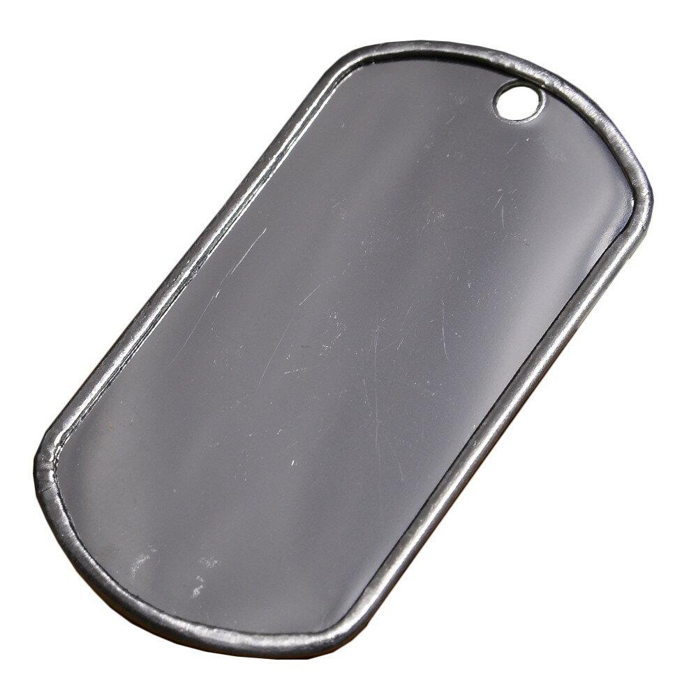 ドッグタグ プレート 鏡面 ステンレス 8381   ドックタグ 認識票 DOG TAG つやあり 艶あり つやなし メンズアクセサリー