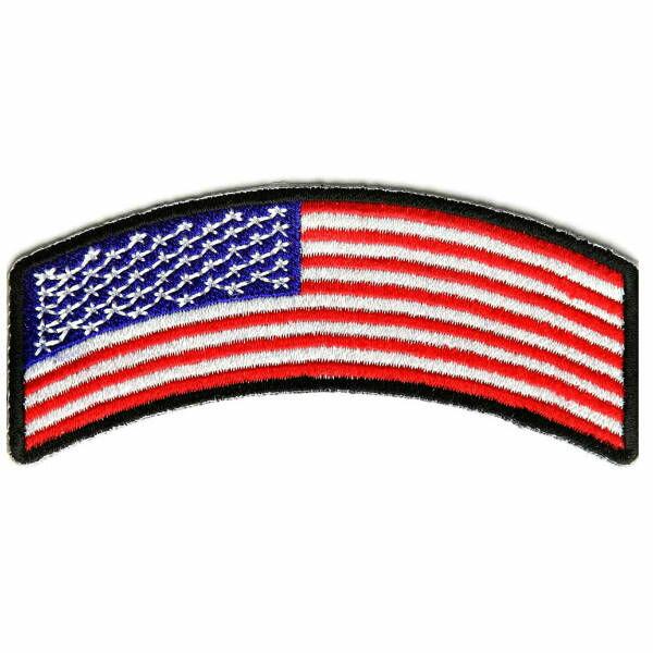 ミリタリーパッチ 星条旗 ロッカー アイロンシート付 アメリカ国旗 フラッグ | ミリタリーワッペン アップリケ 記章 徽章 襟章 肩章 胸章 階級章