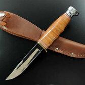KA-BAR アウトドアナイフ ハンター 1232 レザーハンドル | ケーバー 登山 魚釣り フィッシングナイフ キャンプナイフ ハンティングナイフ 狩猟 サバイバルナイフ シースナイフ